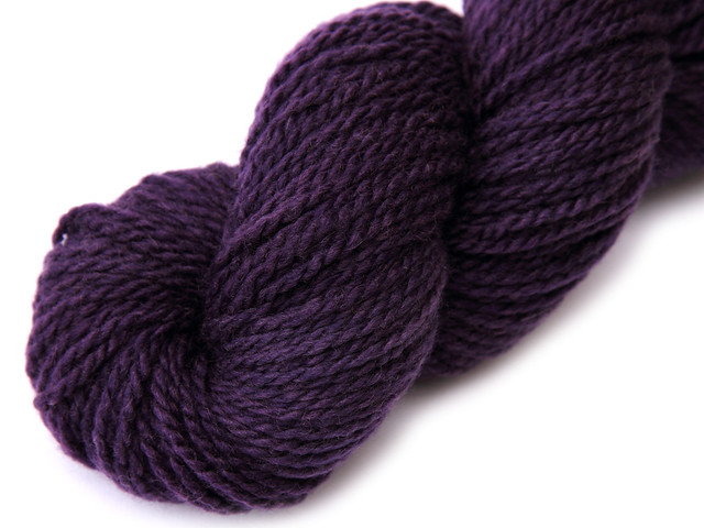Awesome Aran – finest superwash BFL  hand dyed yarn 'Dark Purple'