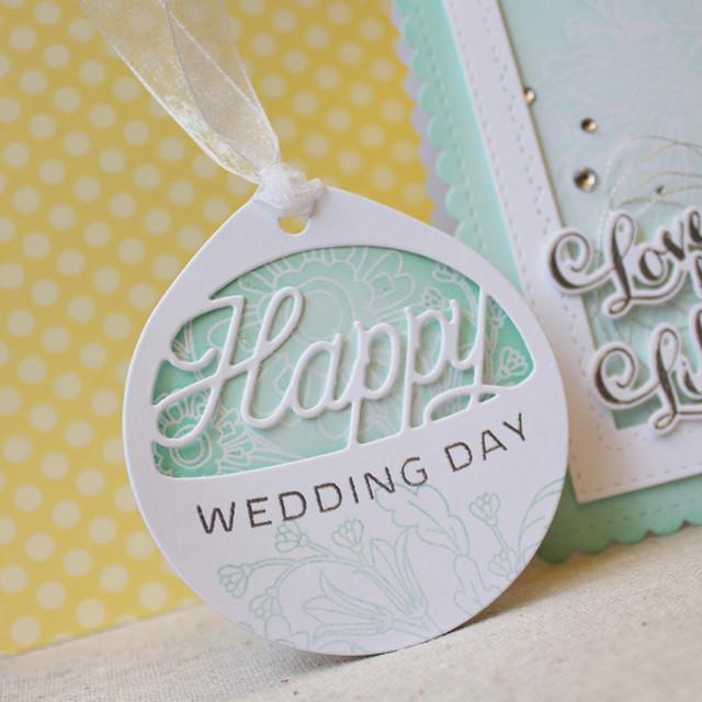 Happy Wedding Day Tag