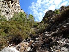 Dans le ravin en vue du col 1160m au sommet