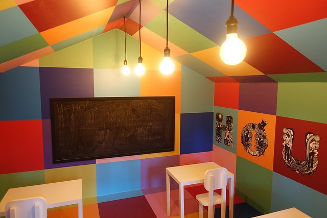 A classroom filled with childhood memories, H for House, art installation for Arts in Your Neighbourhood.