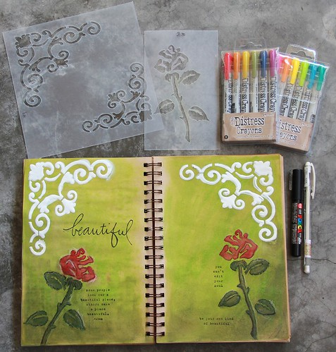 """Beautiful"" Art Journal Page"