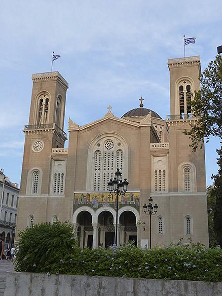 la cathédrale d'Athènes