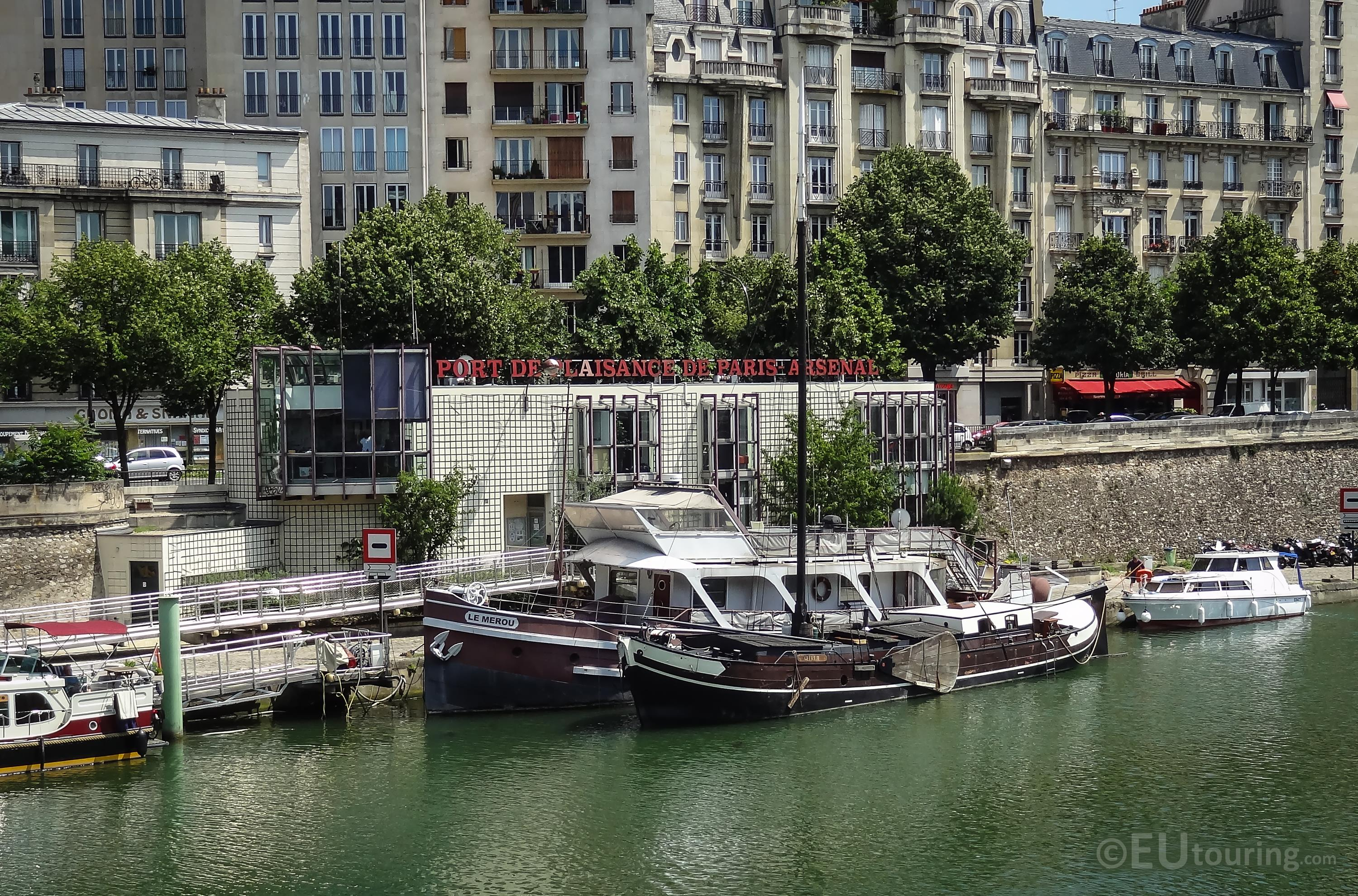 Harbour offices at Port de l'Arsenal