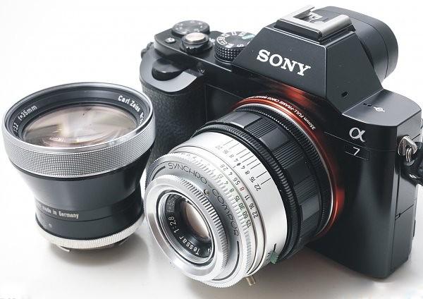 二手鏡頭 香港 . . . Zeiss Ikon Contaflex Pro Tessar鏡頭三/四支   改A7  連17-25對焦筒及接口一套   老菜味   勁靚色