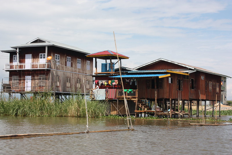 Дома жителей Инле