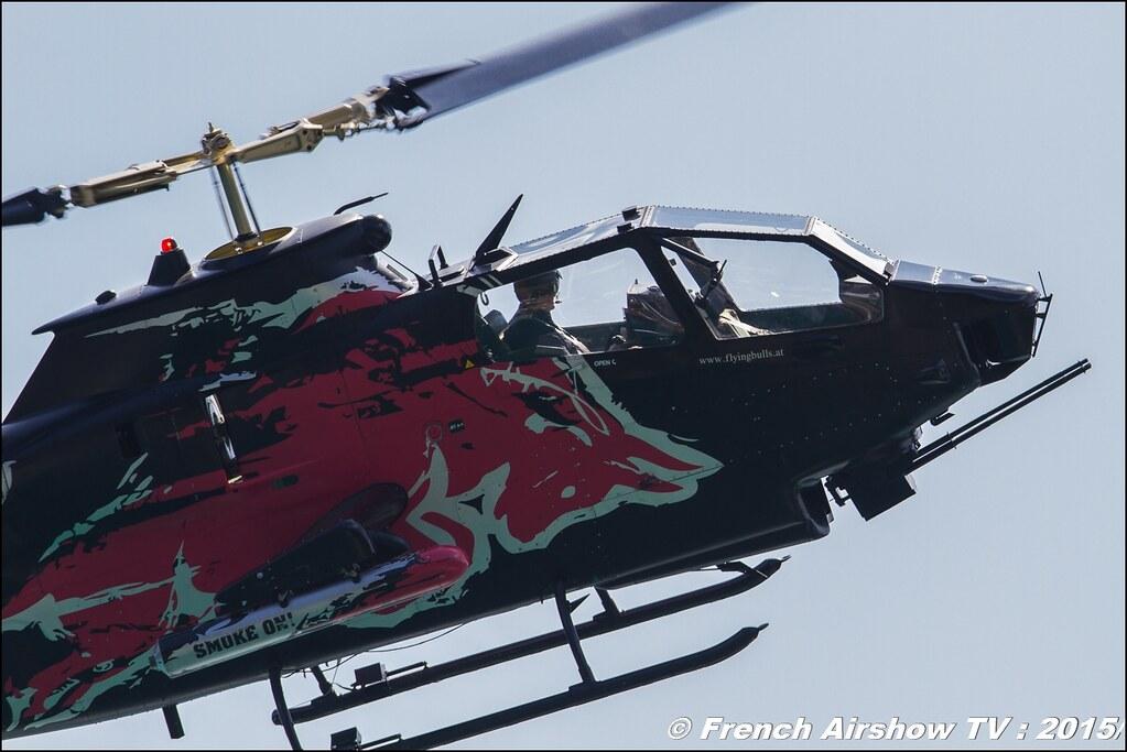 The Flying Bulls Bell AH-1 Cobra , Red Bull Bell AH1 Cobra Helicopter , N11FX , Sankt Wolfgang / St Wolfgang : Austria , scalaria air challenge 2015, Meeting Aerien 2015