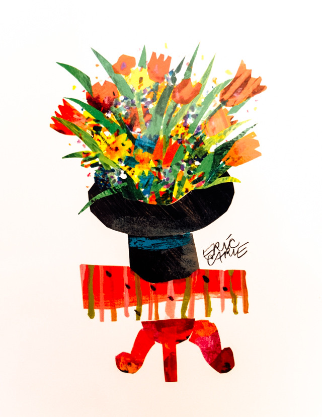 the nonsense show by eric carle - flowers on table