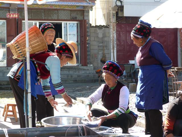 Mujeres bai en Yunnan (China)