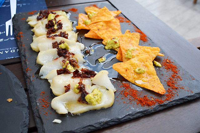 Fish carpaccio, Andana Beach Club, Puerto de la Cruz, Tenerife