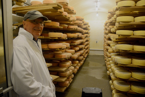 Russell's skills as an architect were useful in the design of Consider Bardwell's special caves where cheese is aged to perfection. Photo: Amy Overstreet, NRCS Vermont.
