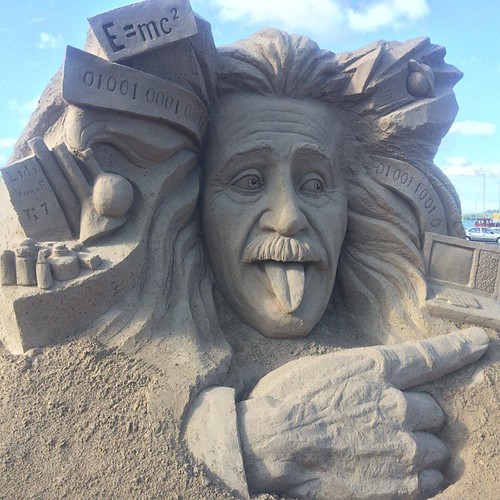 Albert Einstein Sand Sculpture.