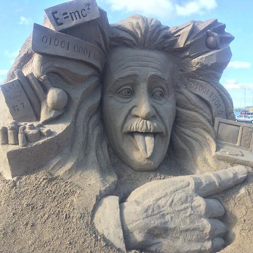 Albert Einstein Sand Sculpture.
