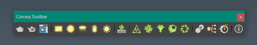 Corona Toolbar for 3ds Max by mipollstudio