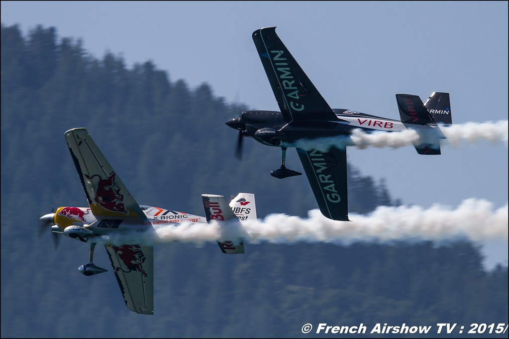 Pete McLeod et Hannes Arch , Voltige Red Bull, Garmin,Red Bull Air Race World Championship , Sankt Wolfgang / St Wolfgang : Austria , scalaria air challenge 2015, Meeting Aerien 2015