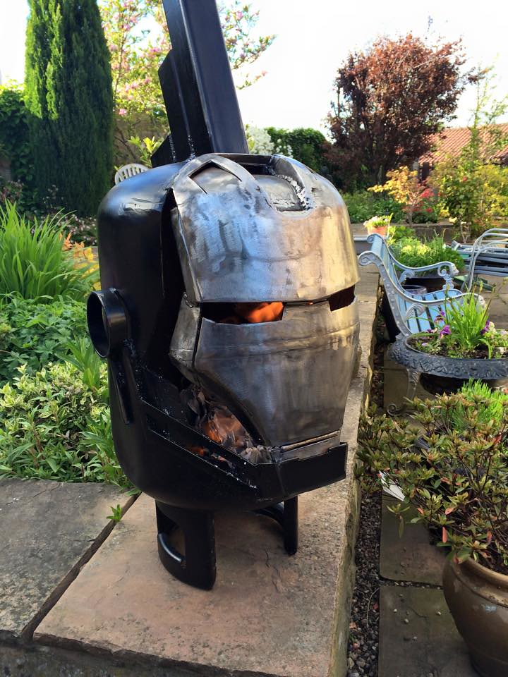 Wood burners & fire pits by Burned by Design - Iron Man