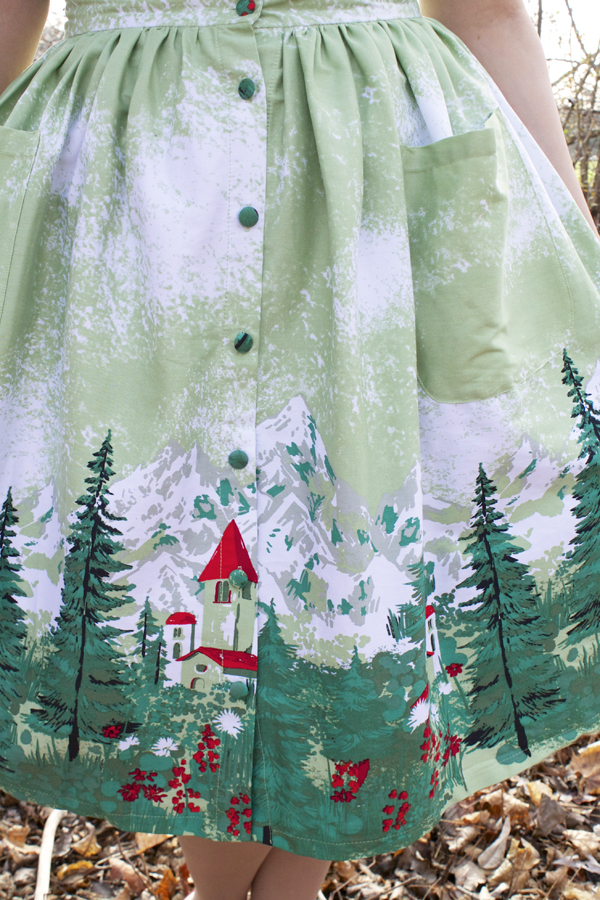 mountain print skirt