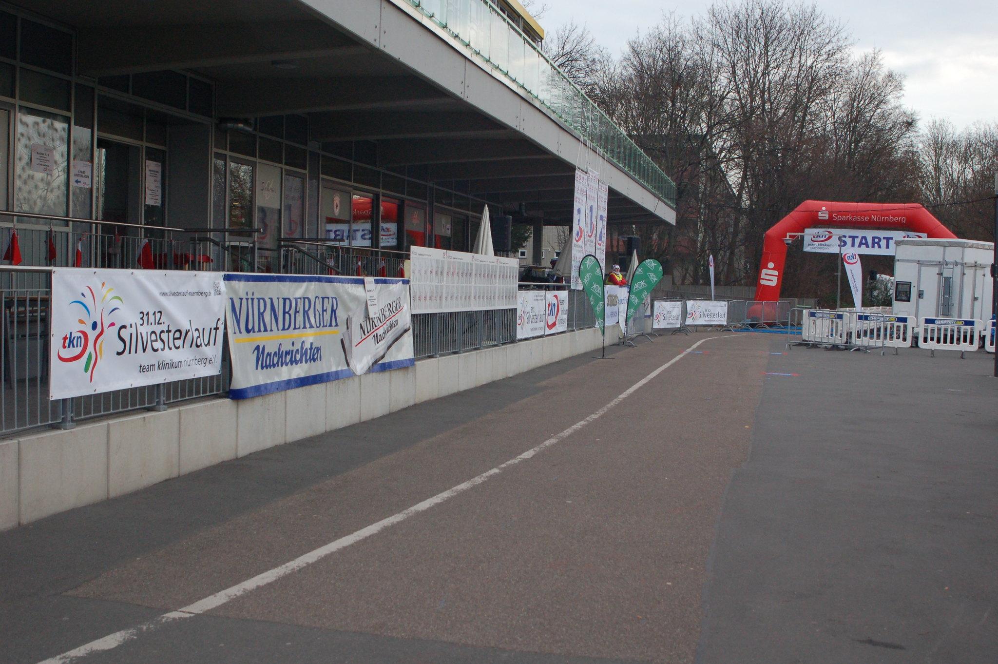 Start-/Zielbereich Silvesterlauf Nürnberg