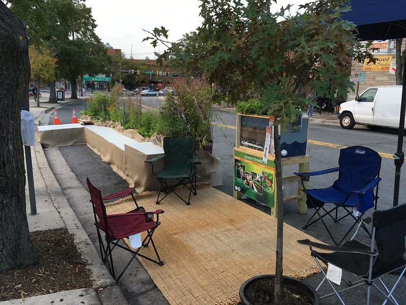 Our PARK(ing) Day display in 2016