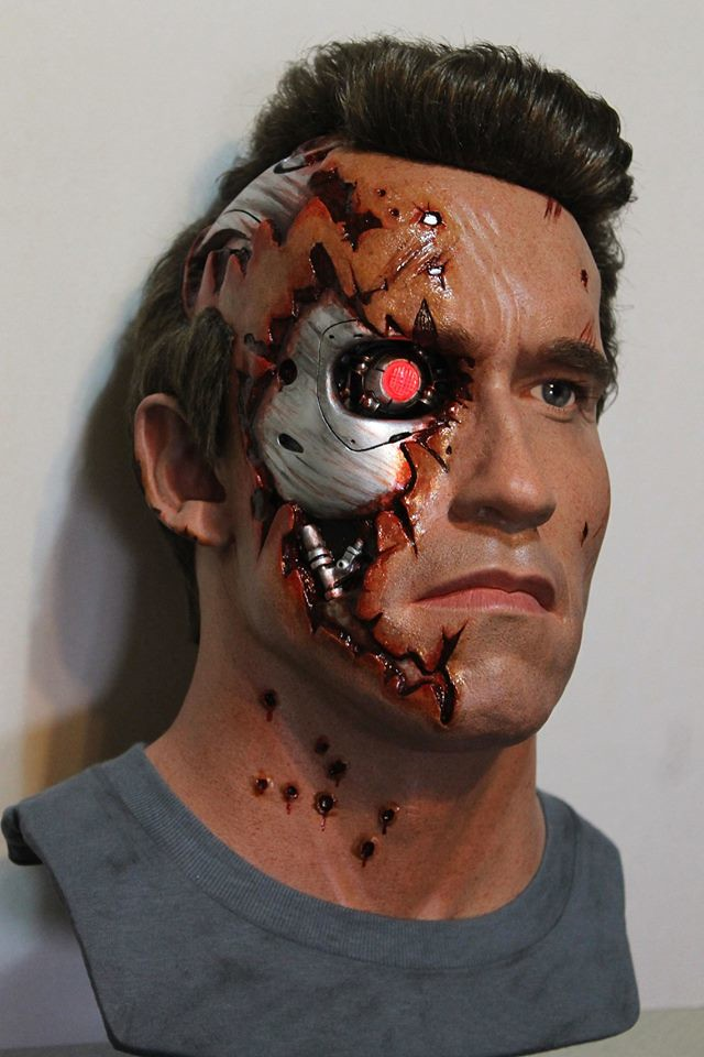 Arnold Schwarzenegger as The Terminator (2) by Godaiking Studios