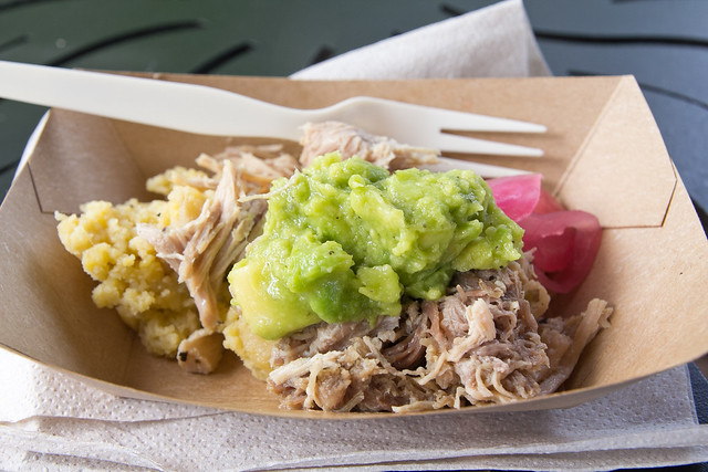 Lechón asado: Roasted pork with mangú, pickled red onion and avocado, Epcot Food and Wine Festival
