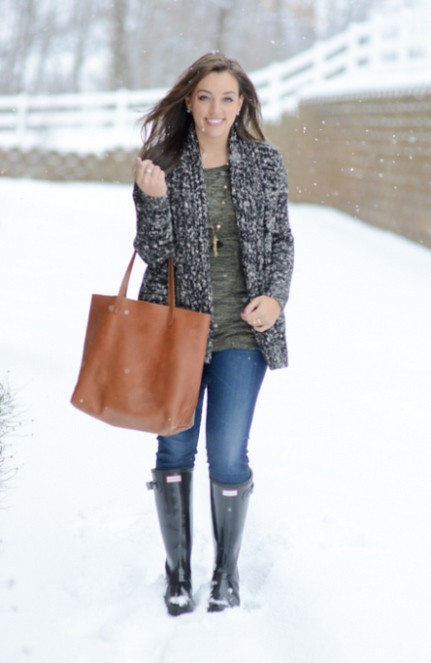 Woman Wearing Black Hunter Boots | Beverly J. Wilson