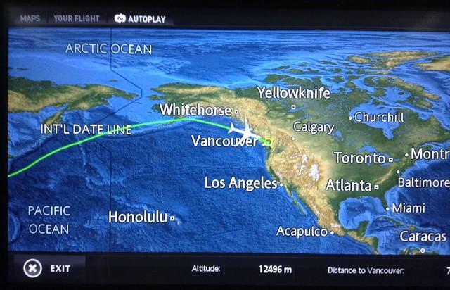 回温哥华飞机上所见所闻