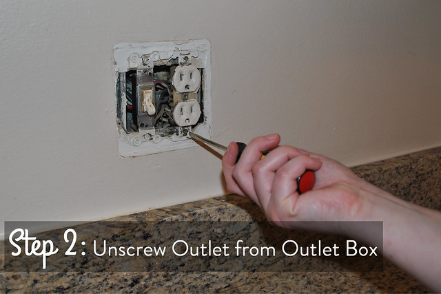 Step 2 remove outlet from the outlet box