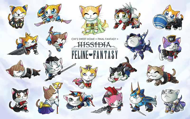 Cats vs Final Fantasy by suzuran