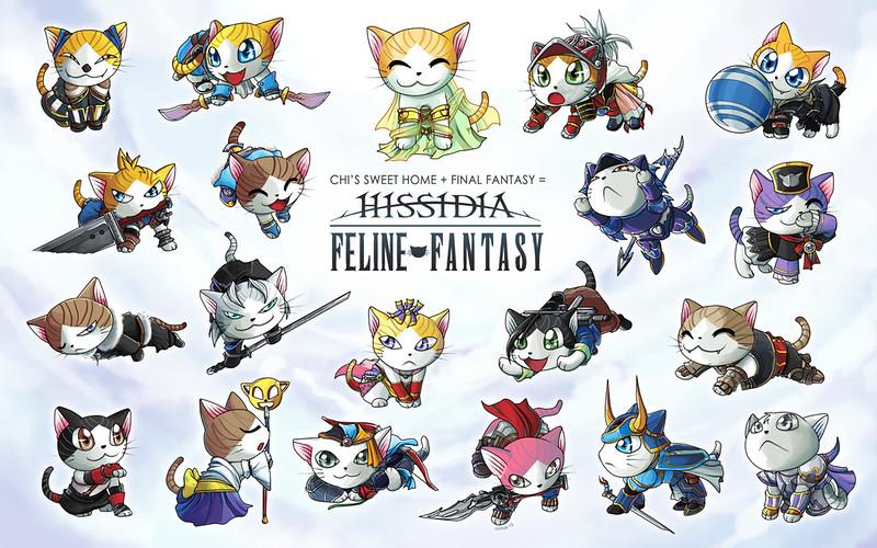 Cats vs Final Fantasy by suzuran