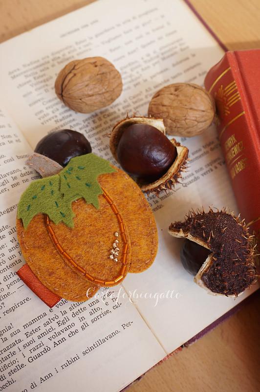 Spilla autunnale zucca - Autumn pumpkin brooch