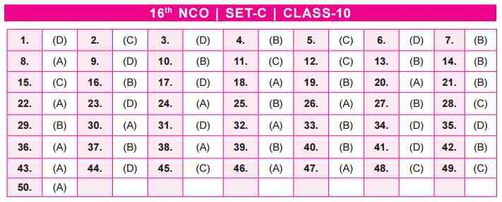 NCO Answer Keys class 10