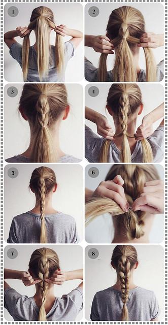 Tết tóc buộc cao