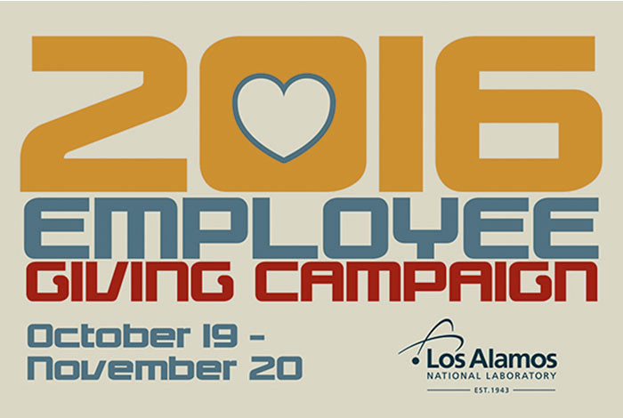 The Employee Giving Campaign is an important cornerstone of Los Alamos' community commitments.