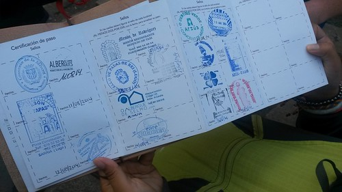 Camino Passport - collect your stamps at the local tourism centre or your albergue