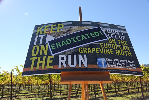 EGVM outreach sign in Napa County
