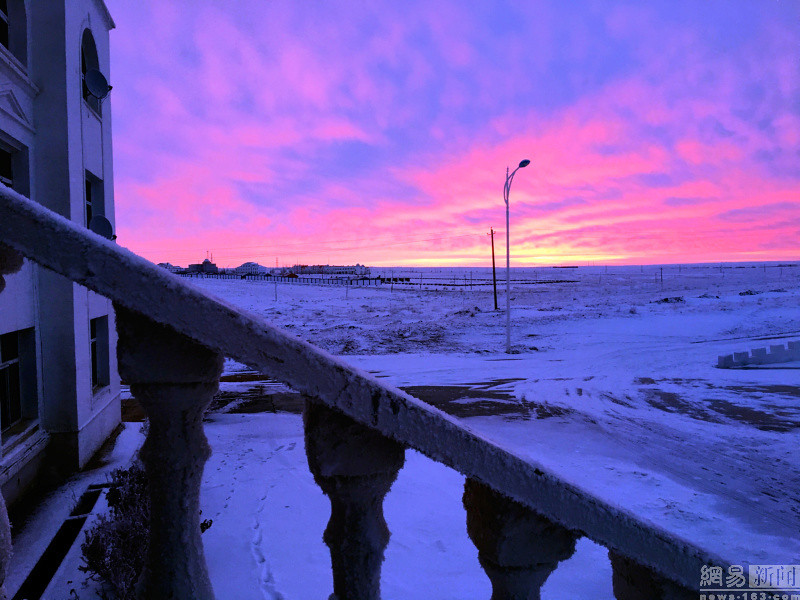Hulunbeier, Inner Mongolia after the snow snow beautiful