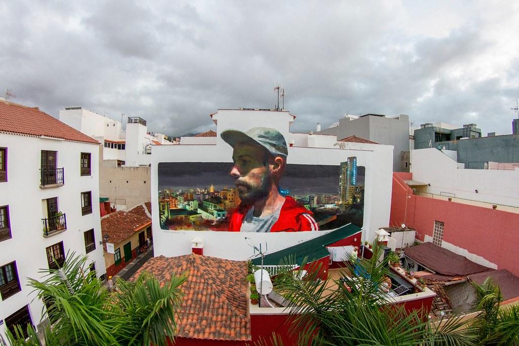 Rebelión de los soñadores, uno de los mejores murales en Puerto de la Cruz