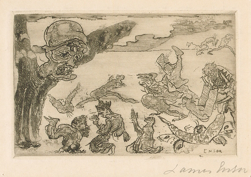 James Ensor - The Ghosts, 1889
