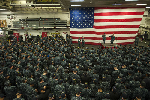 BHR Hosts Commander, 7th Fleet All Hands Call