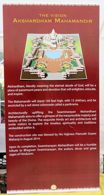 Akshardham, literally means the eternal abode of God. September 2016  Swaminarayan Akshardham Mandir in Robbinsville, NJ;  BAPS.org/Robbinsville IMG_0267