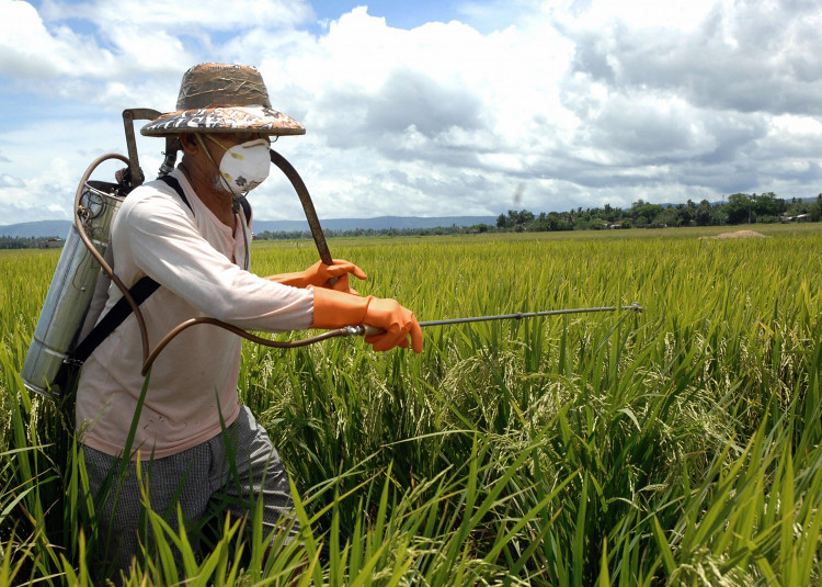 正確的農藥施用應該有完整的防護措施。圖片來源:Day Donaldson (CC BY 2.0)。