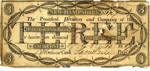 NH, Amherst-Hillsborough B-$003 1807 KL Coll xocx