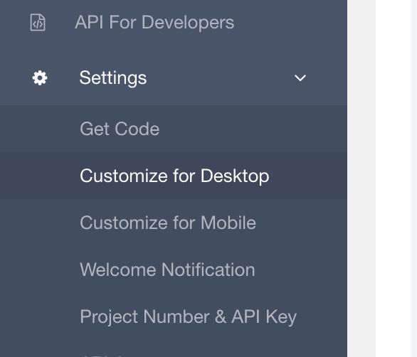 Customize For Desktop