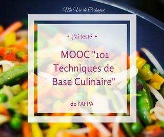 MOOC Techniques base Culinaire AFPA