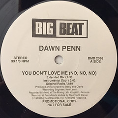 DAWN PENN:YOU DON'T LOVE ME(NO,NO,NO)(LABEL SIDE-A)