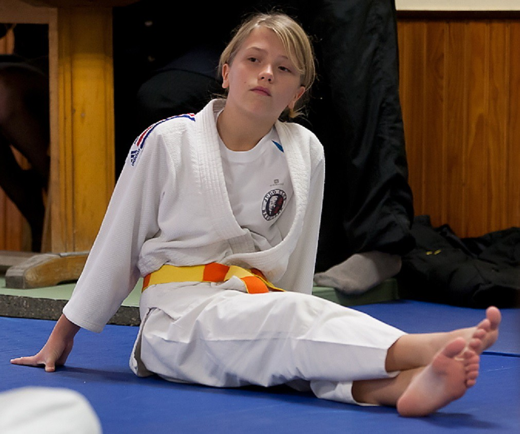 Dsc027  Judo Girl Relaxing After A Hard Fight  Abraham -5832