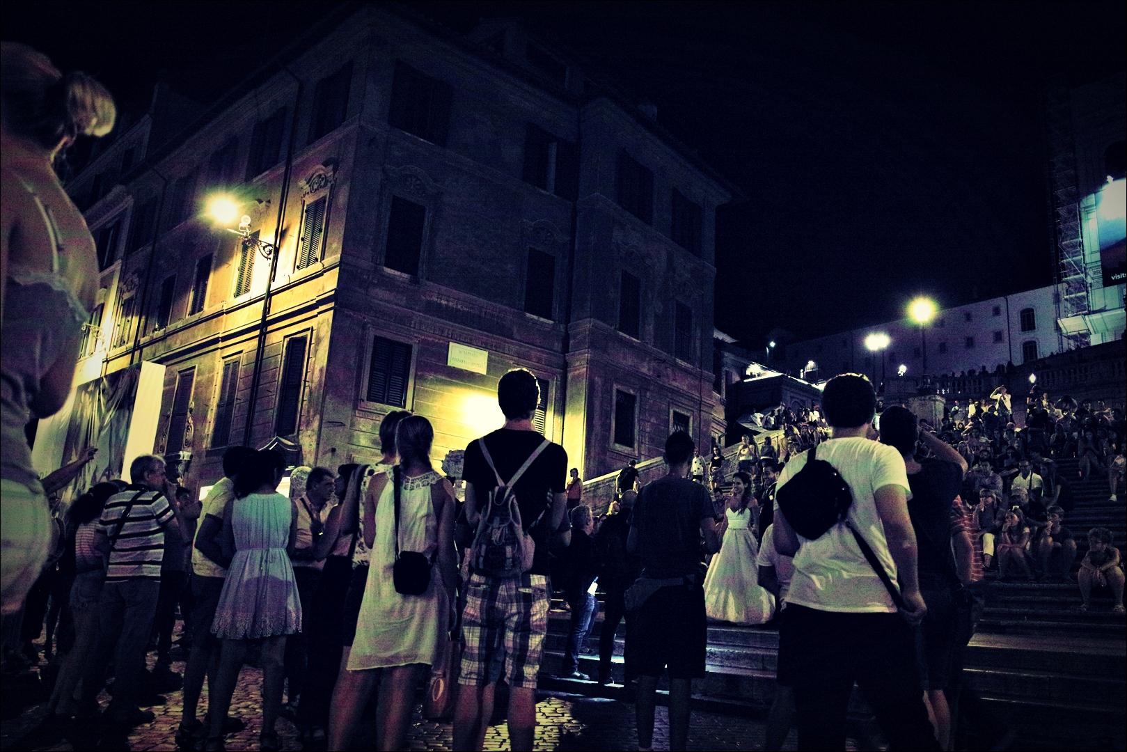 스페인 광장-'로마의 밤거리'