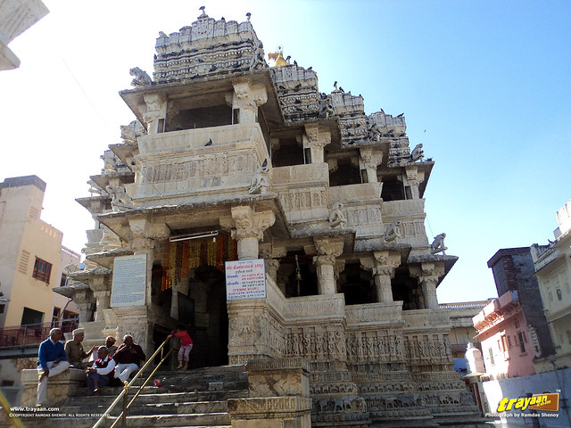 A view of the Jagdish Temple of Maru-Gurjara Arcitectural style in Udaipur, Rajasthan
