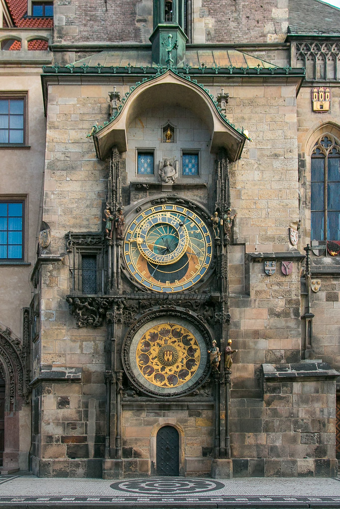 The Clock Astronomical Clock Old Town Square Prague