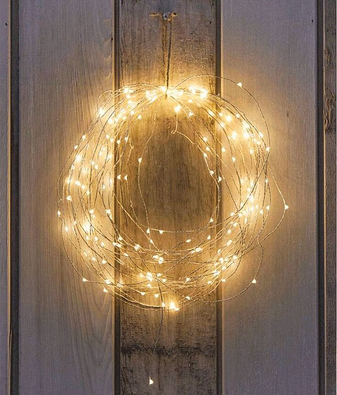 corona de navidad de luces